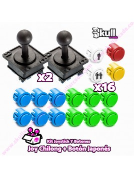 Kit Joystick y Botones : Botón Japonés + Joystick Chilong