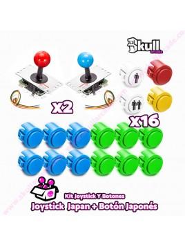 Kit Joystick y Botones : Botón Japonés+ Joystick Japonés (clon Sanwa)