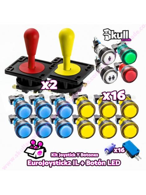 EuroJoystick 2 industrias lorenzo y botones led bartop baratos para montar bartop