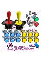Kit joystick y botones: Botón LED + Eurojoystick 2 Industrias Lorenzo