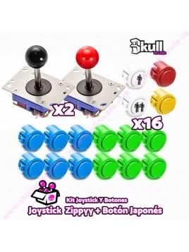 Kit Joystick y Botones : Botón Japonés + Joystick Zippy