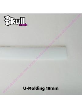 U-Molding 16mm Blanco Moldura U para cantos de maquinas recreativas y bartop arcade HDMI