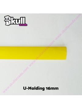 U Molding Moldura 16mm Amarillo