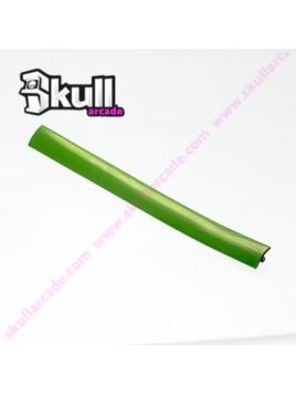 T-Molding 19mm en verde de PVC con ranura de montaje para maquinitas arcade