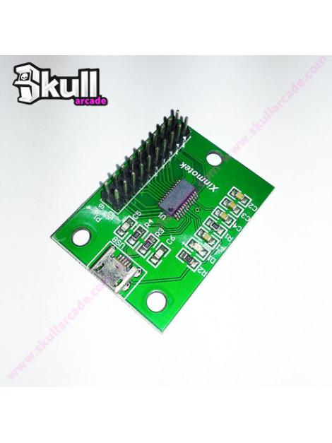 Interface Usb Xinmo 1 jugador arcade bartop raspberry pi