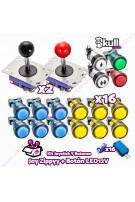 Kit Joystick y Botones : Botón Led + Joystick Zippyy