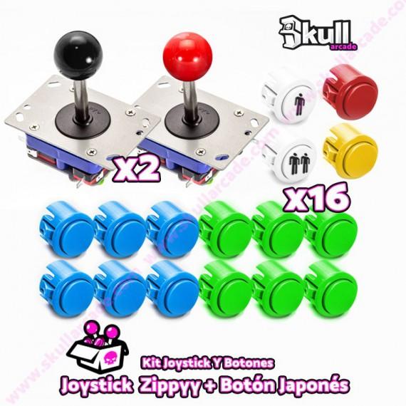 Joystick Zippy y boton americano bartop arcade raspberry pi