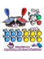 Joystick magnetico industrias lorenzo y botones led bartop baratos para montar bartop