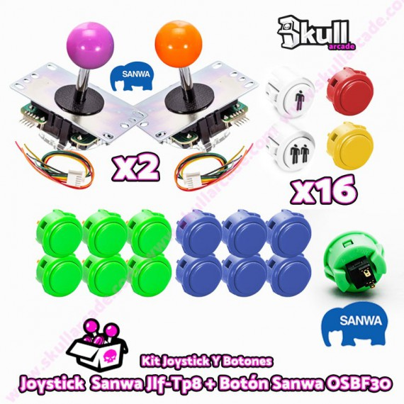 Kit joystick sanwa maquinas recreativas arcade y bartop HDMI hyperspin