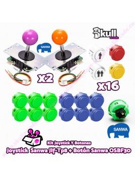Kit Joystick y Botones : Botón Sanwa OSBF30 + Joystick Sanwa JLF-TP-8