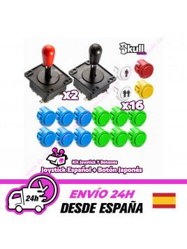 Kit Joystick y Botones : Botón Japonés + Joystick Español